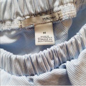 Nordstrom Tops - Halogen Ruffle Striped One-shoulder Blouse
